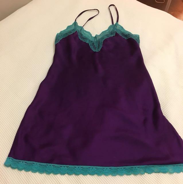 GUESS underwear lingerie purple chemise night dress