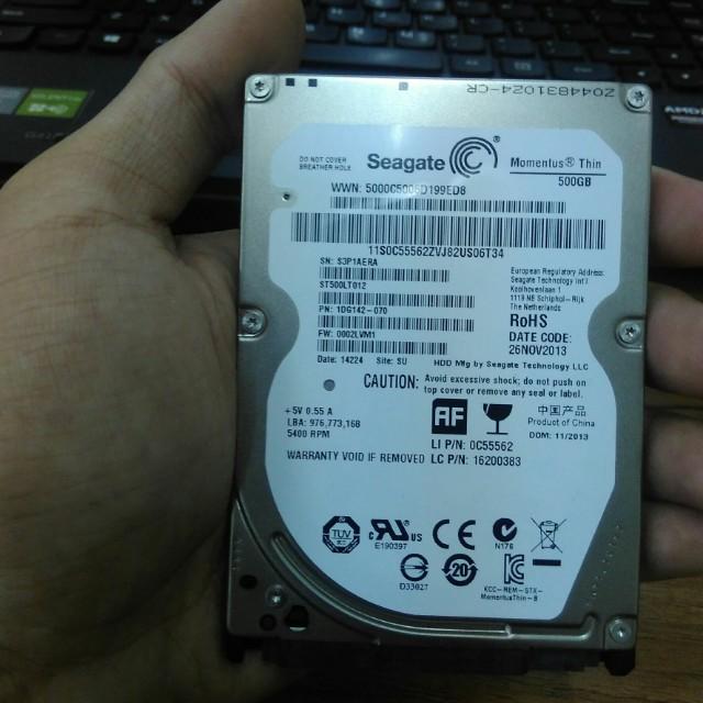 Harddisk (HDD) Seagate 500GB 2nd