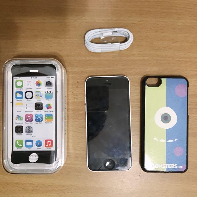 I phone 5c 白色16G  贈手機殼 有些微使用痕跡 如圖片