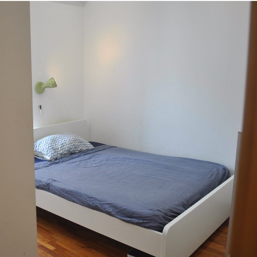 IKEA ASKVOLL Bed Frame (+mattress Offered), Furniture