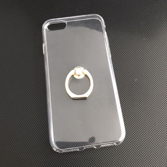 iPhone 7/8 clear case with gold ring