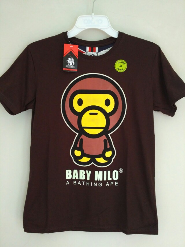 kaos motif baby milo glow in the dark (abu2)