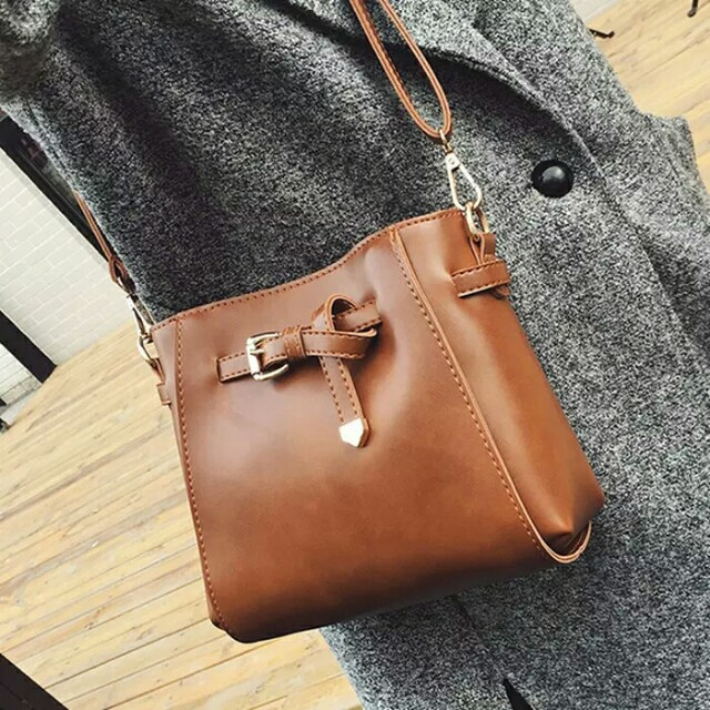 Korean PU leather small sling bag