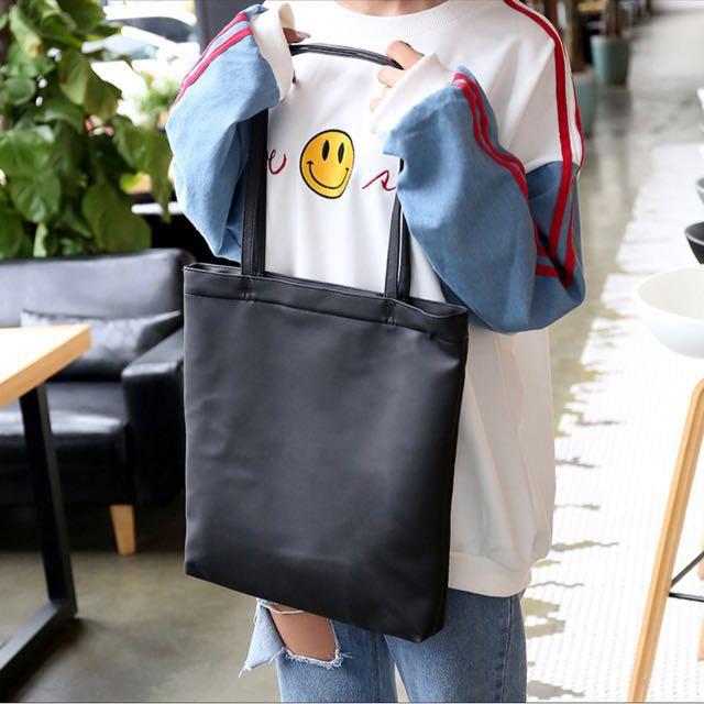 Korean Style Black Tote Bag