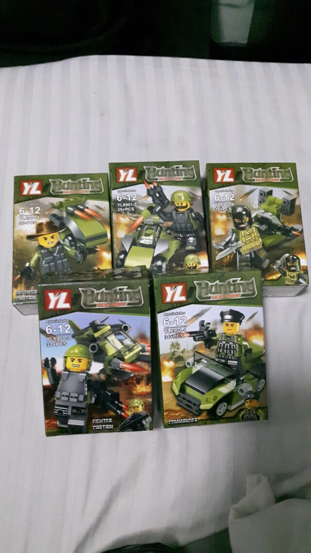 LEGO 5PCS HUNTING FIELD ARMY, Toys & Games, Toys on Carousell