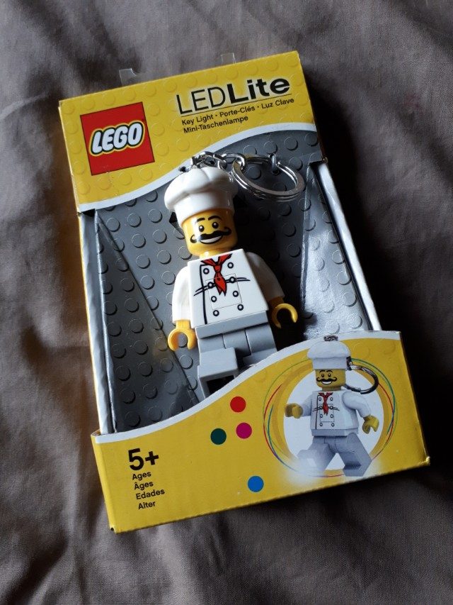 Lego LED keychain chef