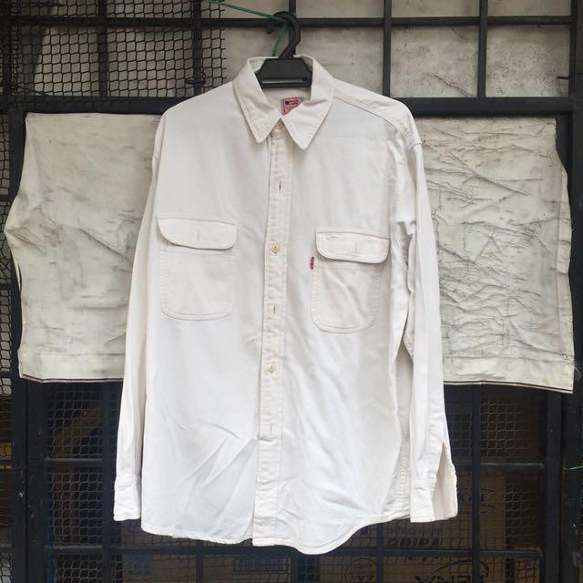 27aecdf535e Levi s White Denim Shirt