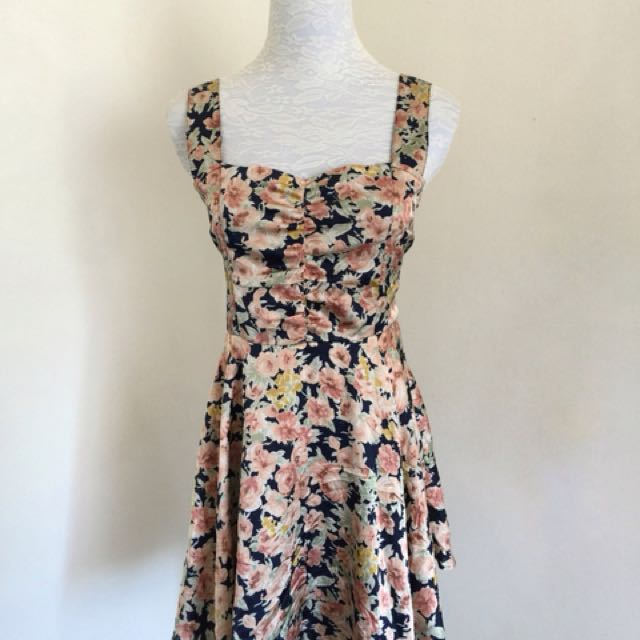 Majestic Legon Floral Dress with Inner shorts