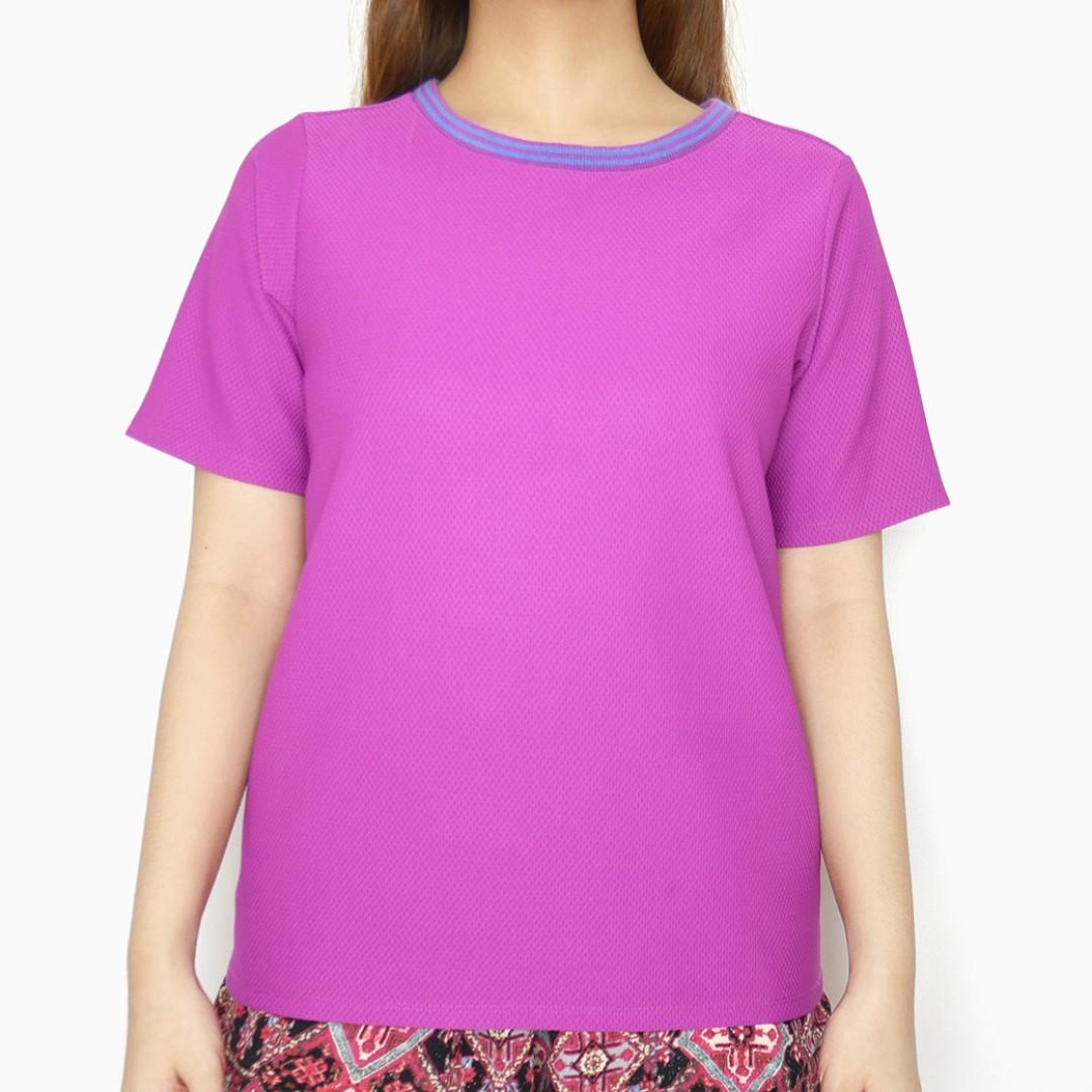 Memo Pink Violet Blue Shirt Top