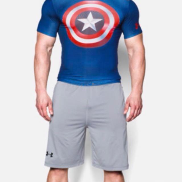 Men's' Alter Ego Series Captain America Compression Top