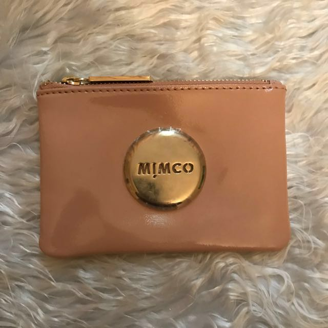 Mimco small nude orange sorbet pouch