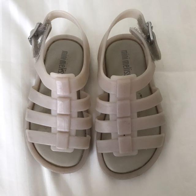 Mini Melissa sandals size 6