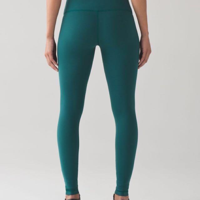 MINT Lululemon leggings turquoise