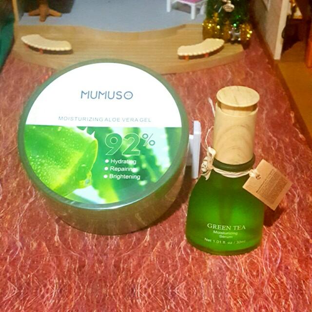 Mumuso Aloe Vera Gel (free Green Tea serum)