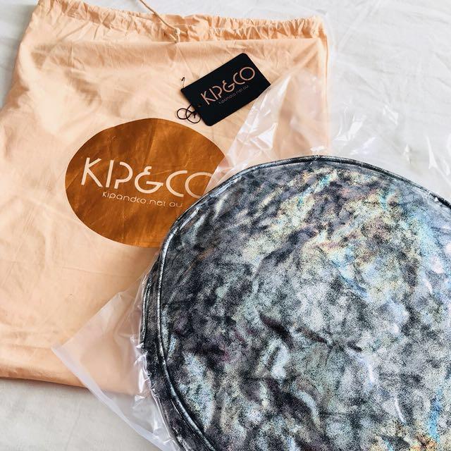 [NEW - BNWT] - KIP & CO Sparkle Black Pea Round Cushion