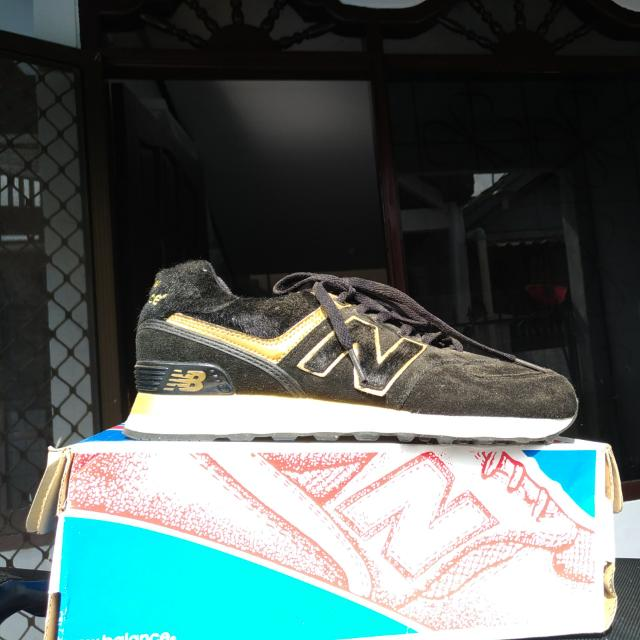 New Balance Black & Gold