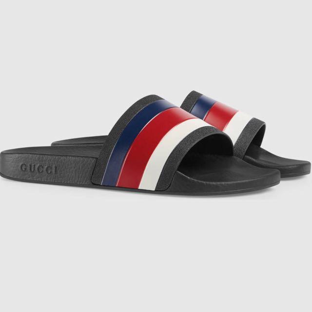 d0dc4173a18b0 NEW  Gucci Pursuit Rubber Slides