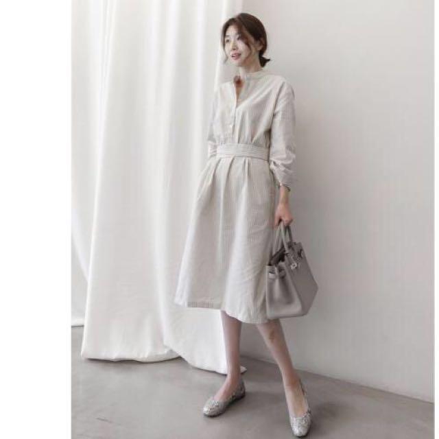 [NEW] Korean Loose Striped Casual Dress