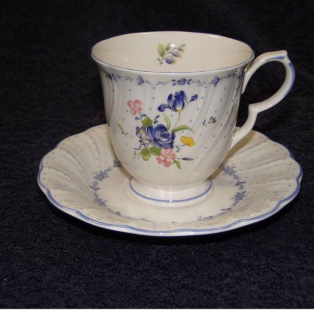 photo photo ... & Nikko Blue Peony Tea Cup Saucer Set Kitchen u0026 Appliances on Carousell
