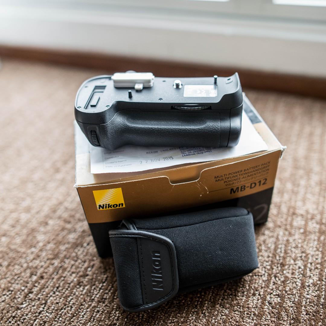 Nikon D800/D810 MB-D12 battery grip