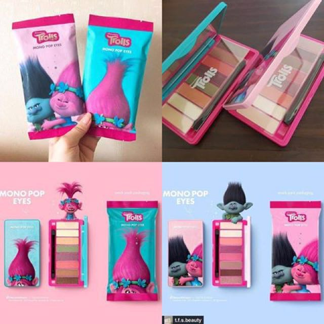 (NO NEGO) The Face Shop Mono Pop Eyes X Trolls