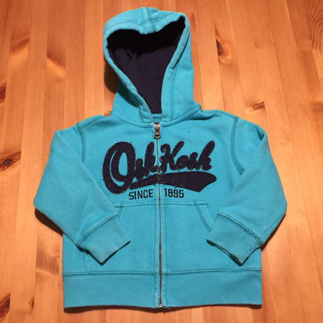 Oshkosh湖水綠棉外套