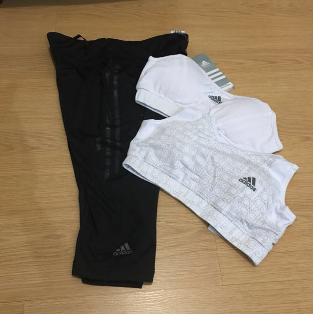 Pair of 1 Adidas Capri and any Sports Bra