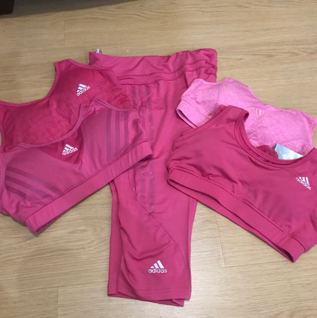 Pair of Adidas Capri and any Sports Bra