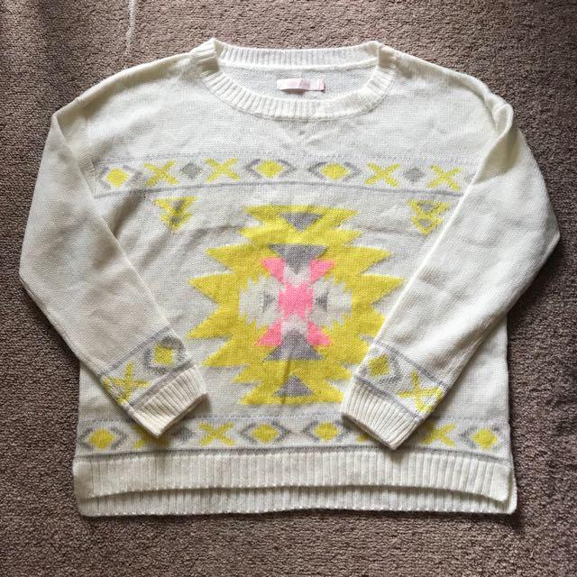 Patterned knit jumper