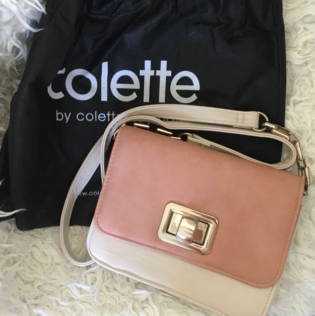 Pink And Cream Colette Hayman Bag Women S Fashion Bags Wallets On Carou