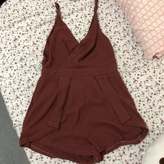 Pink playsuit size 10
