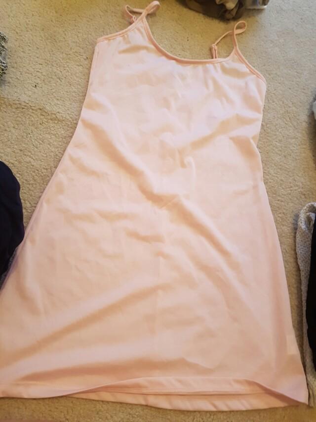 Pink underlay dress