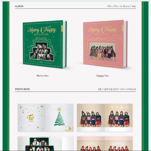 [PO] TWICE 1ST ALBUM REPACKAGE SET MERRY // HAPPY VERSION