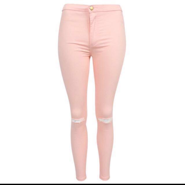 (Rm249 UP)Miss selfridge Steffi high Waist ripped jeans