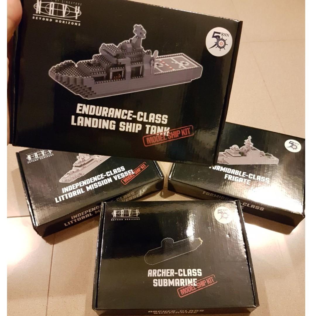 RSN 50 MODEL SHIP KITS/ NANO BLOCKS  LIMITED EDITION ONLY!!!