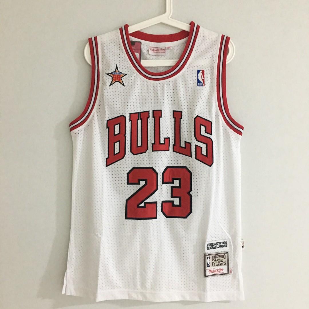 03a57588b8f4 S) Chicago Bulls  23 Michael Jordan Basketball NBA Jersey White ...