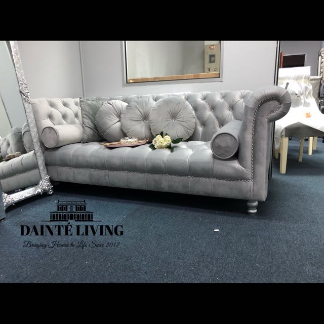 S Chesterfield Crystal Tufted Sofa French Grey Furniture Sofas On Carou