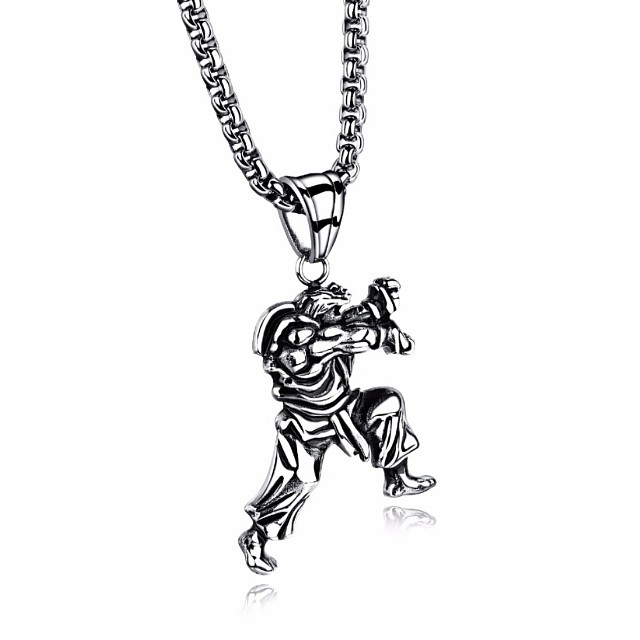 Salesstreet fighter character kung fu akuma muscular man pendant photo photo aloadofball Images