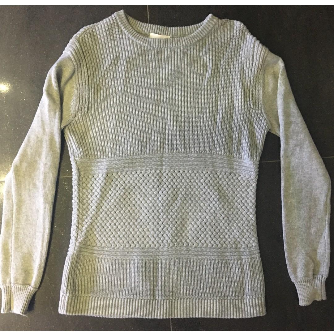 Seed knitted grey sweatshirt