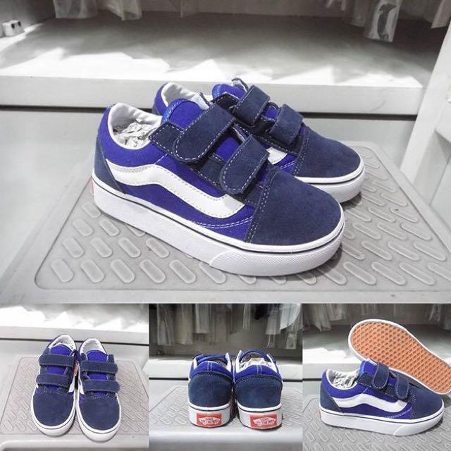 Sepatu Vans Old Skool Classic Kids Velcro Premium d030417a4f