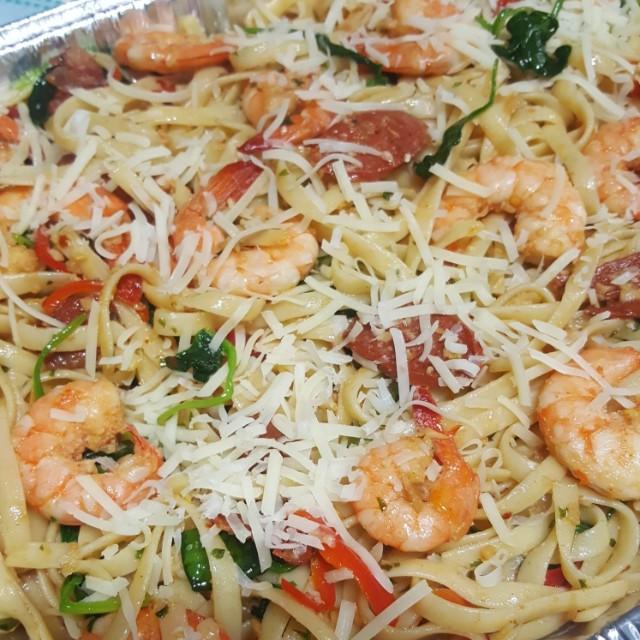 Shimps & Chorizo Pasta