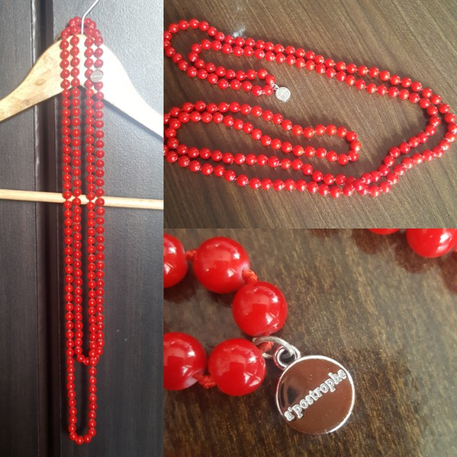 ☝️Red Beaded Long Necklace
