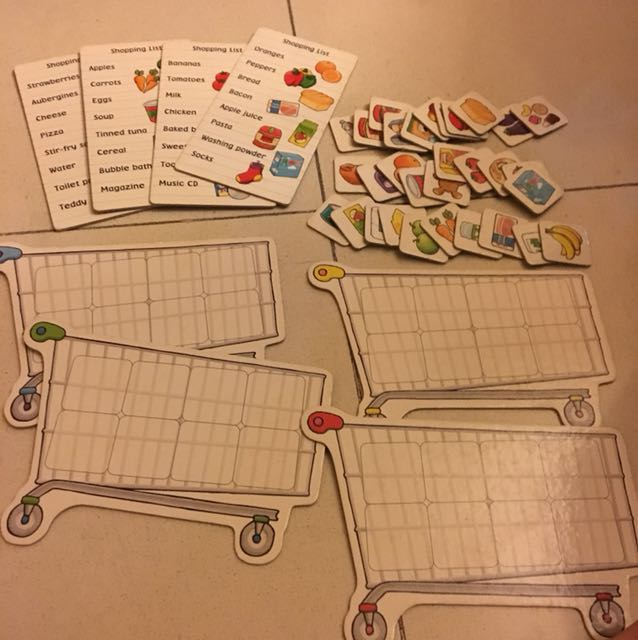 Shopping list board game for 3-7 years old kids, Toys & Games ...