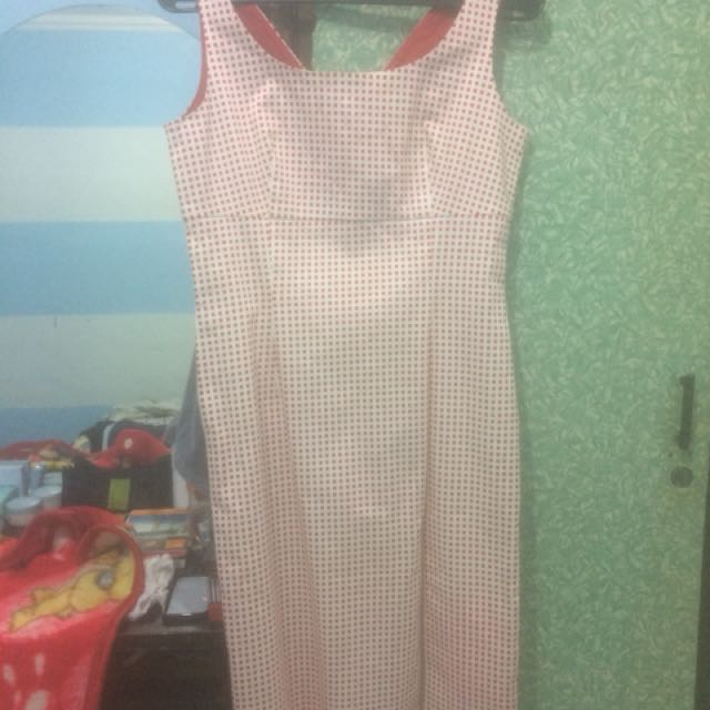 simple dress white red
