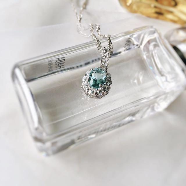 👍Sky Blue Zirconia Pendant Necklace