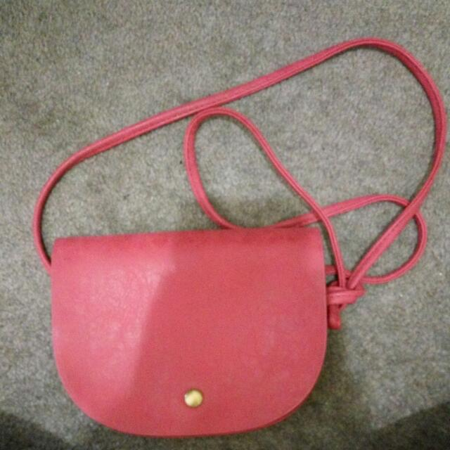 Small Red Sling Bag