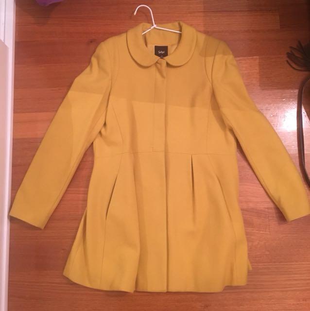 Sportsgirl Mustard Coat