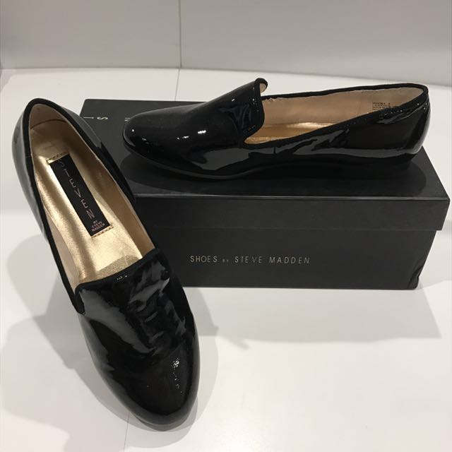 STEVE MADDEN Glossy leather  flat shoes