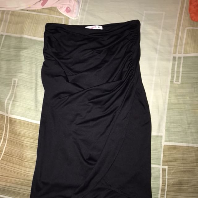 SUPRE WRAPPED BODYCON SKIRT