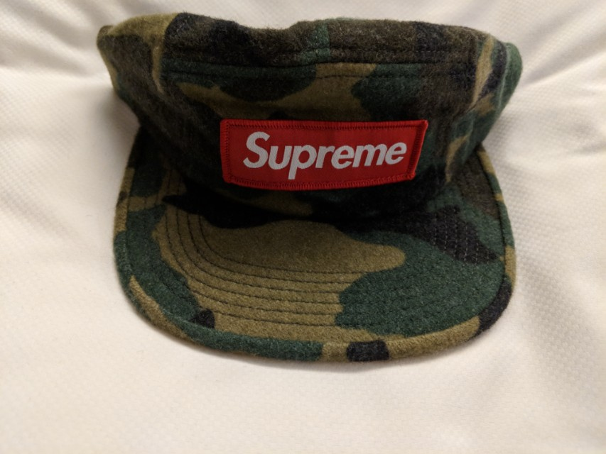d029f0f92d1 Supreme Camo Wool Camp Cap Green Colour on Carousell